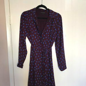 Banan Republic Purple Shirt Dress Sz 6